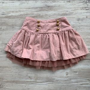 Gap girls pink skirt 3T with gold buttons